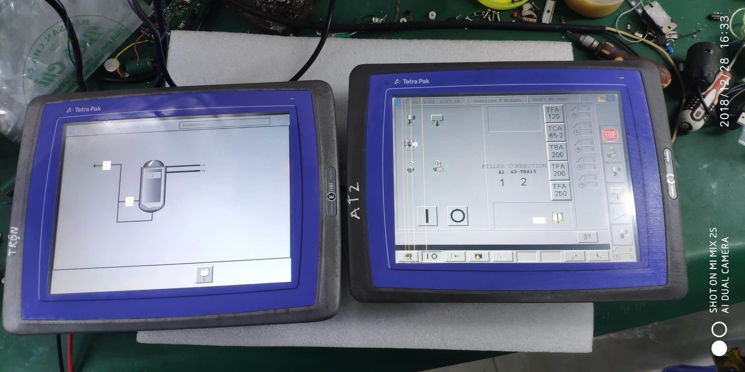 Sửa chữa màn hình HMI Nhà máy sữa Vinamilk
